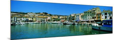Boats Docked at a Harbor, Cassis, Provence-Alpes-Cote D'Azur, France--Mounted Photographic Print
