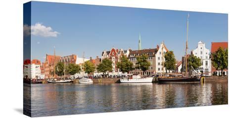 Holstenhafen on the River Untertrave, Lubeck, Schleswig-Holstein, Germany--Stretched Canvas Print