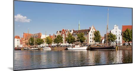 Holstenhafen on the River Untertrave, Lubeck, Schleswig-Holstein, Germany--Mounted Photographic Print
