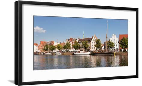 Holstenhafen on the River Untertrave, Lubeck, Schleswig-Holstein, Germany--Framed Art Print