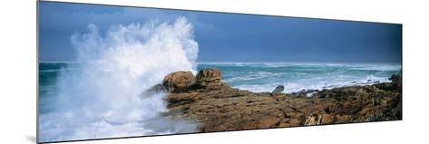 Waves Breaking on the Coast, Saint Guenole, Finistere, Brittany, France--Mounted Photographic Print