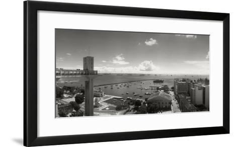 Buildings on the Coast, Lacerda Elevator, Pelourinho, Salvador, Bahia, Brazil--Framed Art Print