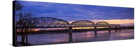 Bridge across a River, Big Four Bridge, Louisville, Kentucky, USA--Stretched Canvas Print