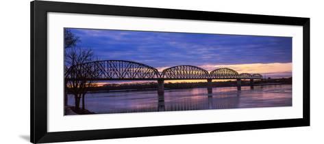 Bridge across a River, Big Four Bridge, Louisville, Kentucky, USA--Framed Art Print