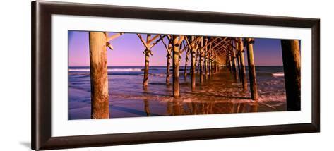 Pier over the Ocean, Folly Beach Fishing Pier, Folly Beach, Folly Island, Charleston County--Framed Art Print