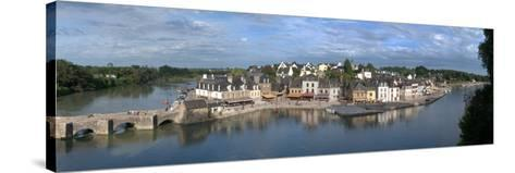 High Angle View of the Medieval Town at the Waterfront, St. Goustan, Auray, Gulf of Morbihan--Stretched Canvas Print