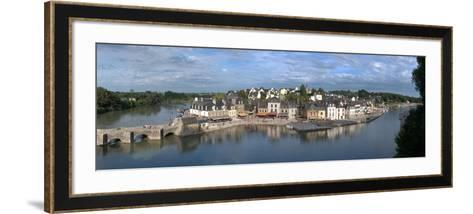 High Angle View of the Medieval Town at the Waterfront, St. Goustan, Auray, Gulf of Morbihan--Framed Art Print
