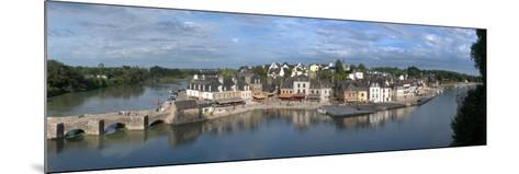 High Angle View of the Medieval Town at the Waterfront, St. Goustan, Auray, Gulf of Morbihan--Mounted Photographic Print
