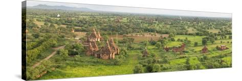 Southern View of Stupas Seen from Top of Tower at Aureum Palace Hotel, Bagan, Mandalay Region--Stretched Canvas Print
