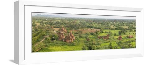 Southern View of Stupas Seen from Top of Tower at Aureum Palace Hotel, Bagan, Mandalay Region--Framed Art Print