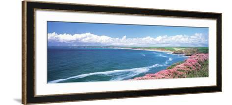 Halzephoron Cliff Cornwall England--Framed Art Print
