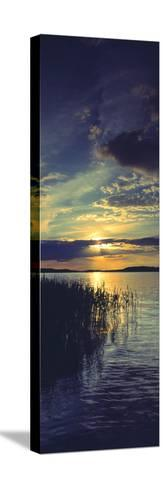 Reflection of Clouds in a Lake, Lake Saimaa, Joutseno, Finland--Stretched Canvas Print