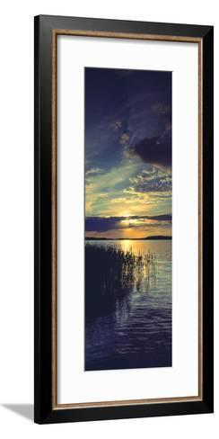Reflection of Clouds in a Lake, Lake Saimaa, Joutseno, Finland--Framed Art Print
