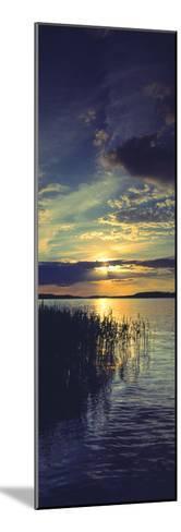 Reflection of Clouds in a Lake, Lake Saimaa, Joutseno, Finland--Mounted Photographic Print