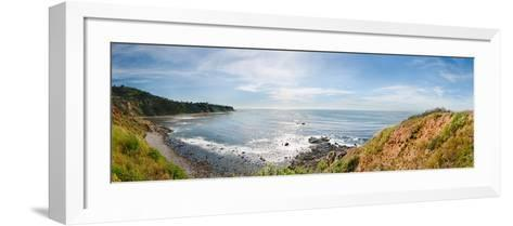 Elevated View of a Coast, Palos Verdes Cove, Los Angeles County, California, USA--Framed Art Print