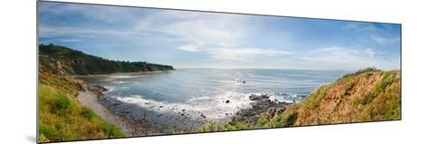 Elevated View of a Coast, Palos Verdes Cove, Los Angeles County, California, USA--Mounted Photographic Print