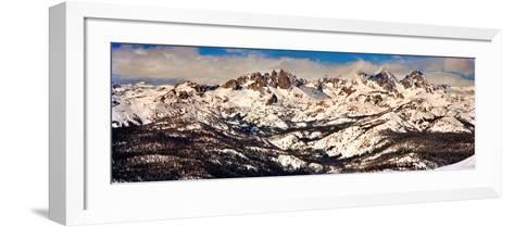 Snow Covered Landscape, Mammoth Lakes, Mono County, California, USA--Framed Art Print