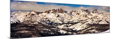 Snow Covered Landscape, Mammoth Lakes, Mono County, California, USA--Mounted Photographic Print