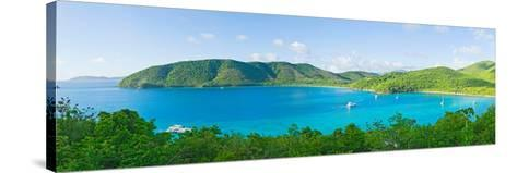 Coastline, Maho Bay, St. John, Us Virgin Islands--Stretched Canvas Print