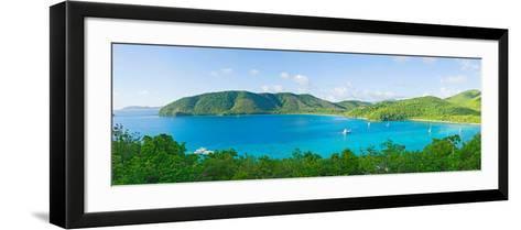 Coastline, Maho Bay, St. John, Us Virgin Islands--Framed Art Print