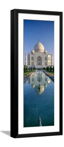 Reflection of a Mausoleum on Water, Taj Mahal, Agra, Uttar Pradesh, India--Framed Art Print