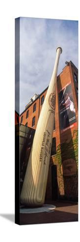 Giant Baseball Bat Adorns Outside of the Louisville Slugger Museum and Factory, Louisville--Stretched Canvas Print