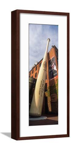 Giant Baseball Bat Adorns Outside of the Louisville Slugger Museum and Factory, Louisville--Framed Art Print