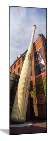 Giant Baseball Bat Adorns Outside of the Louisville Slugger Museum and Factory, Louisville--Mounted Photographic Print