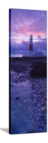 Lighthouse on the Coast, Portland Bill Lighthouse, Portland Bill, Dorset, England--Stretched Canvas Print