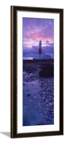 Lighthouse on the Coast, Portland Bill Lighthouse, Portland Bill, Dorset, England--Framed Art Print