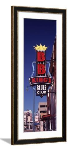 Low Angle View of a Signboard of a Restaurant, B.B. King's Blues Club, Beale Street, Memphis--Framed Art Print
