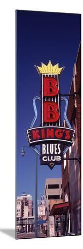 Low Angle View of a Signboard of a Restaurant, B.B. King's Blues Club, Beale Street, Memphis--Mounted Photographic Print