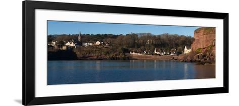 Thatched Cottages in a Town, Dunmore Strand, County Waterford, Republic of Ireland--Framed Art Print