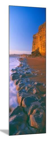 Cliff on the Beach, Burton Bradstock, Dorset, England--Mounted Photographic Print