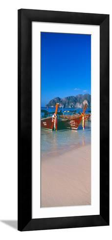 Fishing Boats in the Sea, Phi Phi Islands, Phuket Province, Thailand--Framed Art Print