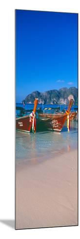 Fishing Boats in the Sea, Phi Phi Islands, Phuket Province, Thailand--Mounted Photographic Print
