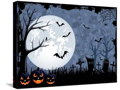 Halloween Illustration-losw-Stretched Canvas Print