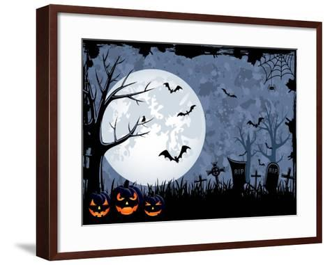 Halloween Illustration-losw-Framed Art Print