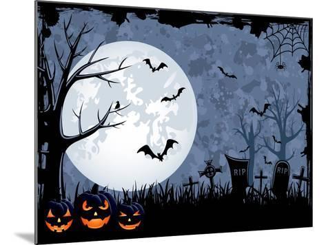Halloween Illustration-losw-Mounted Art Print