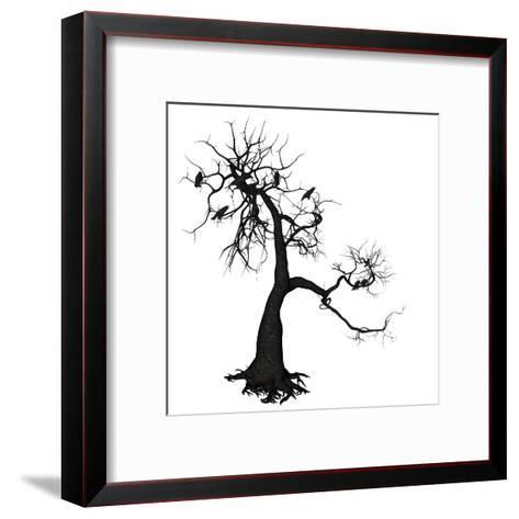 Crow Tree-artshock-Framed Art Print
