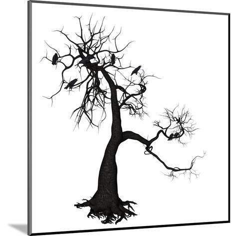 Crow Tree-artshock-Mounted Art Print