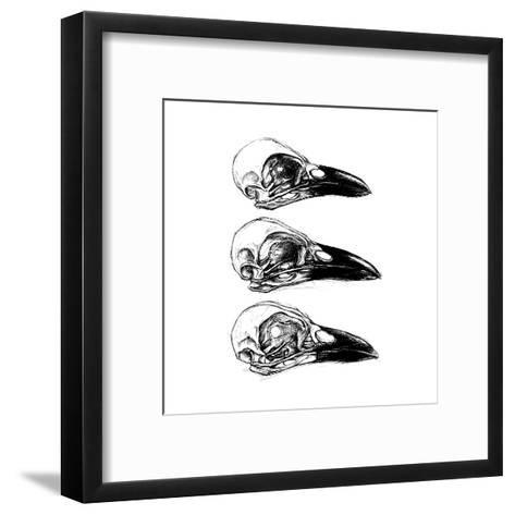 Crow Skull-13UG13th-Framed Art Print