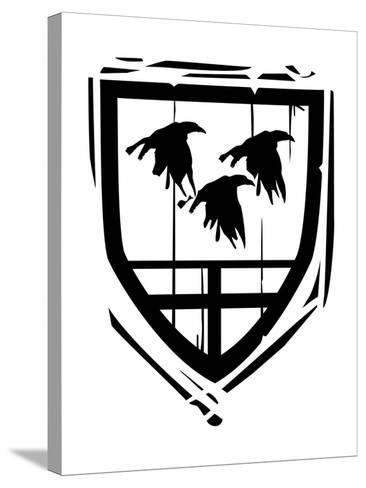 Heraldic Shield Ravens-JeffreyThompson-Stretched Canvas Print