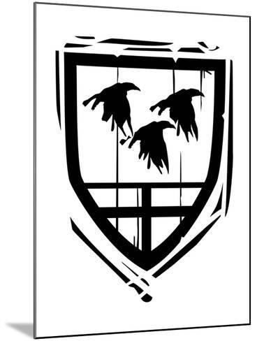 Heraldic Shield Ravens-JeffreyThompson-Mounted Art Print