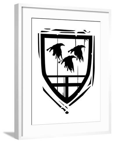 Heraldic Shield Ravens-JeffreyThompson-Framed Art Print