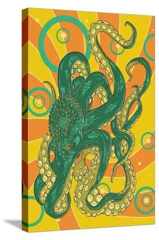 Kraken-Lantern Press-Stretched Canvas Print