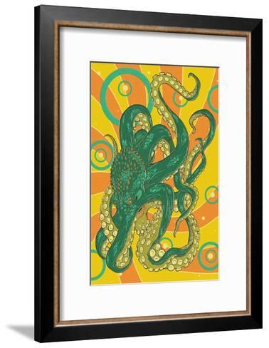 Kraken-Lantern Press-Framed Art Print