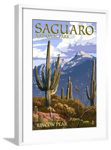 Saguaro National Park, Arizona - Rincon Peak-Lantern Press-Framed Art Print