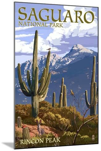 Saguaro National Park, Arizona - Rincon Peak-Lantern Press-Mounted Art Print