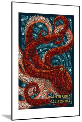 Santa Cruz, California - Octopus Mosaic-Lantern Press-Mounted Art Print